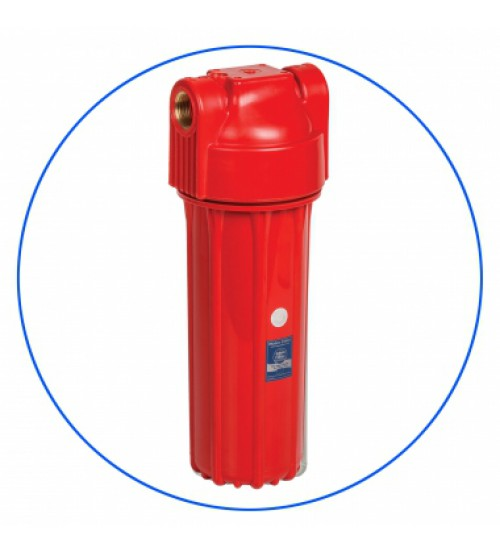 Korpusas karštam vandeniui raudonas Aquafilter